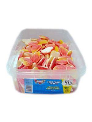 Sour Peach Hearts [Box of 6 Tubs]
