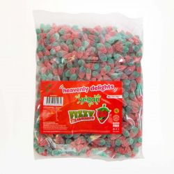 Vegan Fizzy Strawberries 1KG Bulk bag
