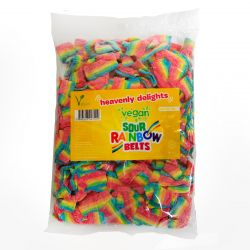 Vegan Sour Rainbow Belts 1KG