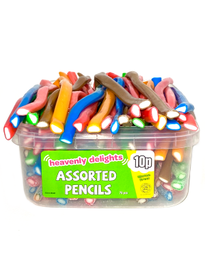 Smooth Pencils, Tub of 75 pcs, 10p Range