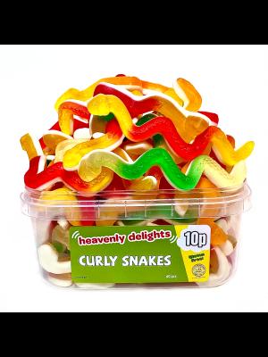 Curly Snakes, Tub of 60 pcs, 10p Range
