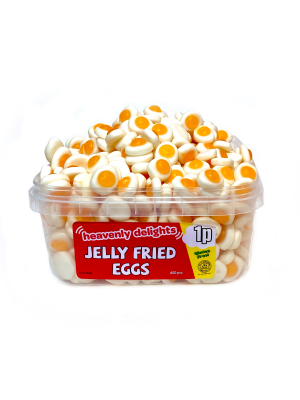 Jelly Fried Eggs, Tub of 600 pcs, 1p Range