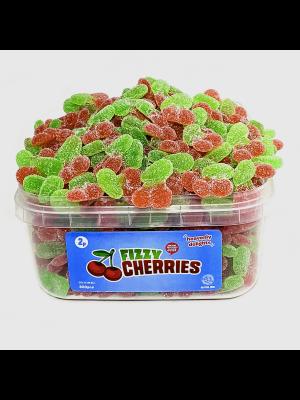 Fizzy Cherries, Tub of 300 pcs, 2p Range