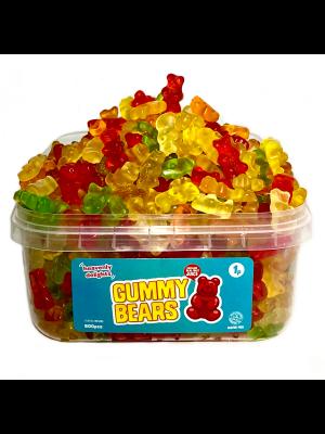 Gummy Bears, Tub of 600 pcs, 1p Range