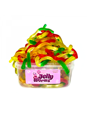 Jelly Worms, Tub of 120 pcs, 5p Range