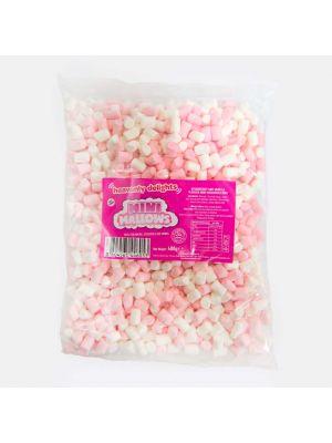 Pink & White Mini Mallows (400g Bulk Bag)