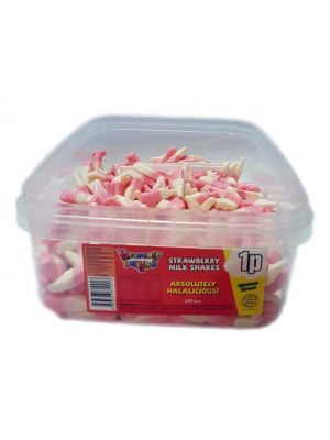 Strawberry Milkshakes, Tub of 600 pcs, 1p Range